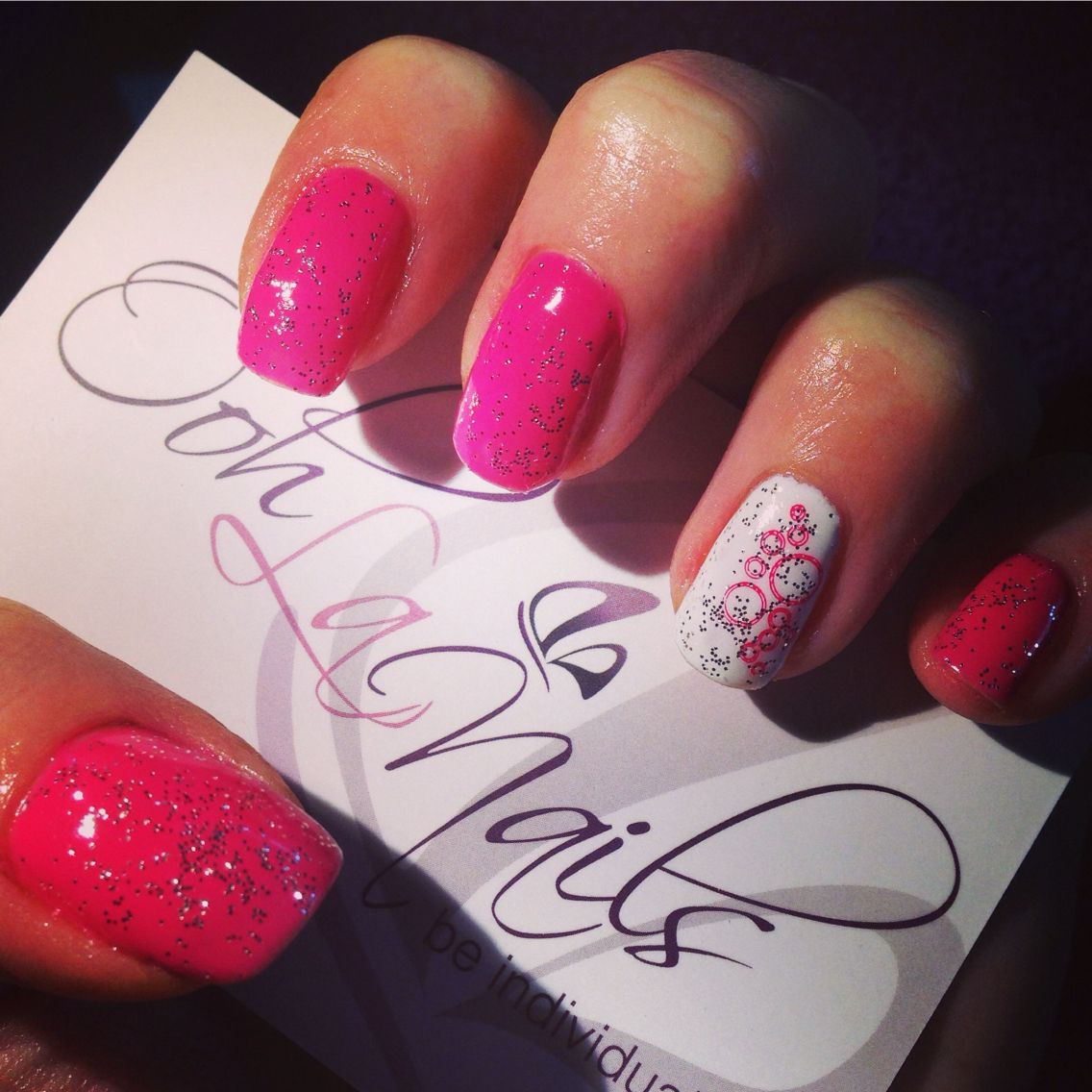 Sparkly pink nail art for new year! Gel polish | Gel polish and ...