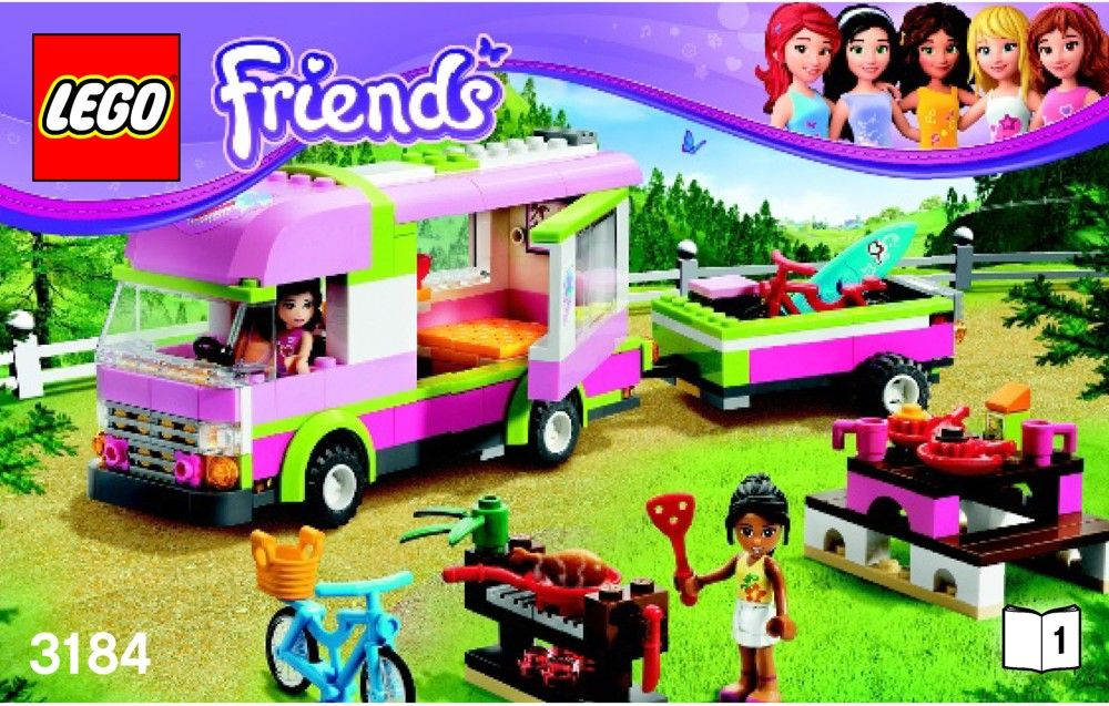Lego Friends Set 3184 Adventure Camper 2012 Complete Retired