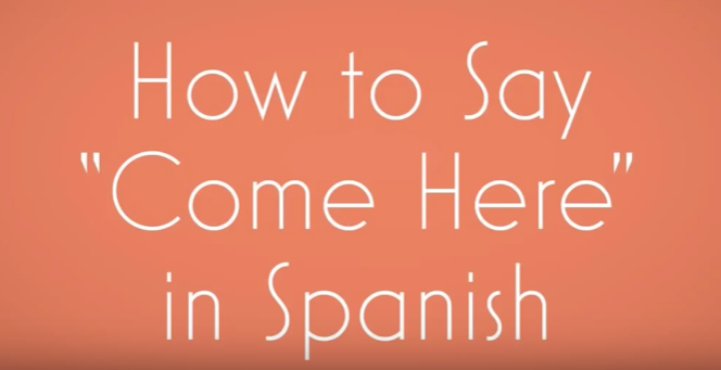 How do you say here comes in spanish