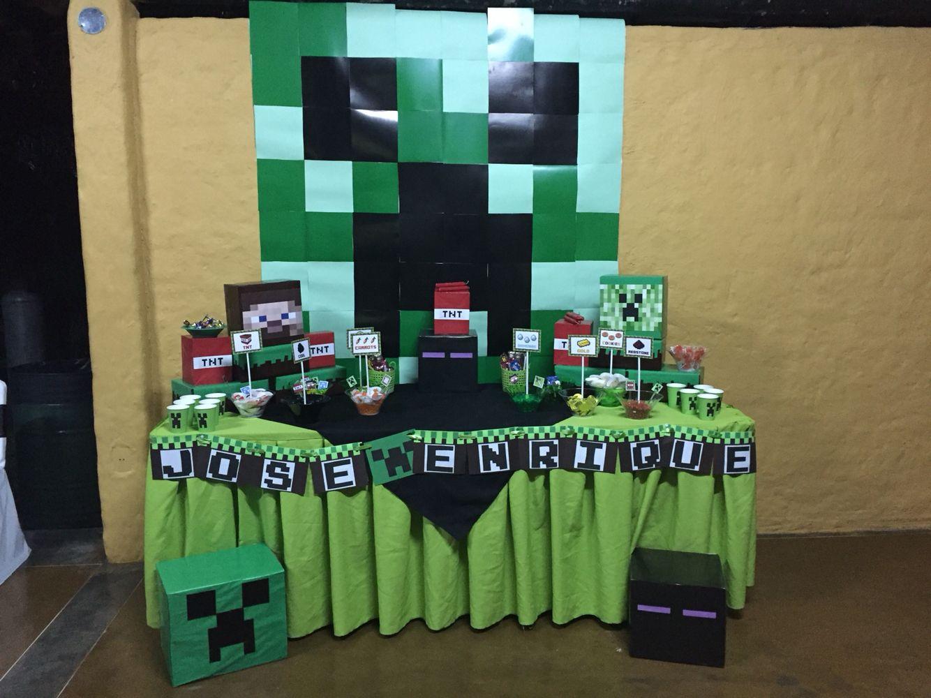 Party Minecraft Decoracion Opciones Deco Minecraft