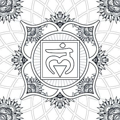coloring-page-chakra-1-muladhara-vector-id626553092 (416×416 - new coloring pages for eye doctor