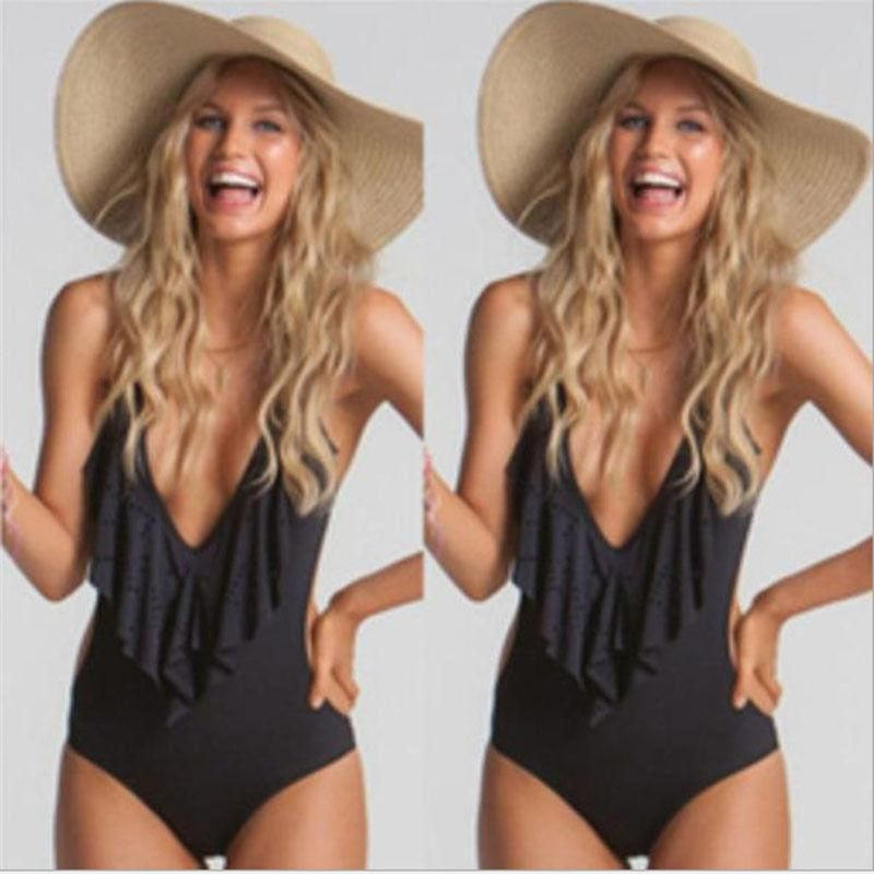 3057140eb1 US Seller New Women s Swimwear One Piece Swimsuit Monokini Push Up Padded  Bikini