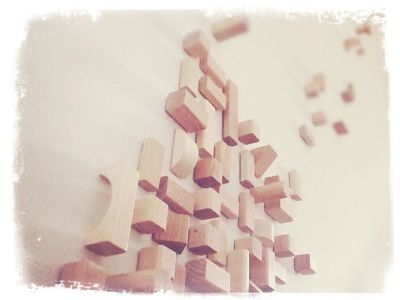diy kids building block wall installation