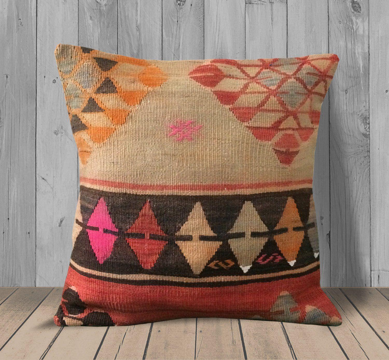 20x20 Vintage Beige Decorative Handmade Pillow