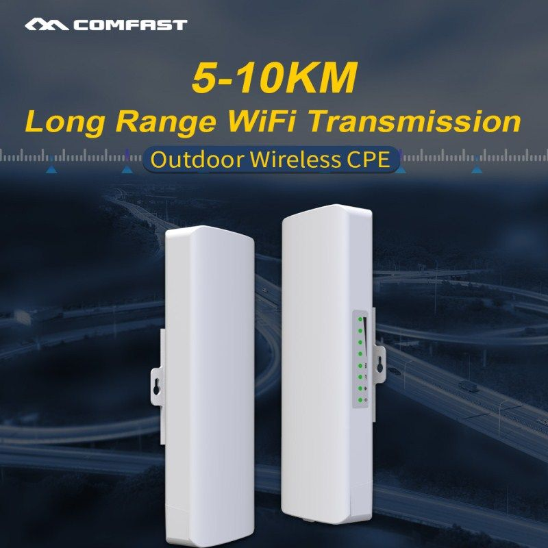 Networking Equipment 2pcs 5 10km Long Range Wifi Transmission Outdoor Wireless Cpe Bridge Wifi Access Point In 2020 Cell Phone Antenna Wifi Antenna Signal Boosters