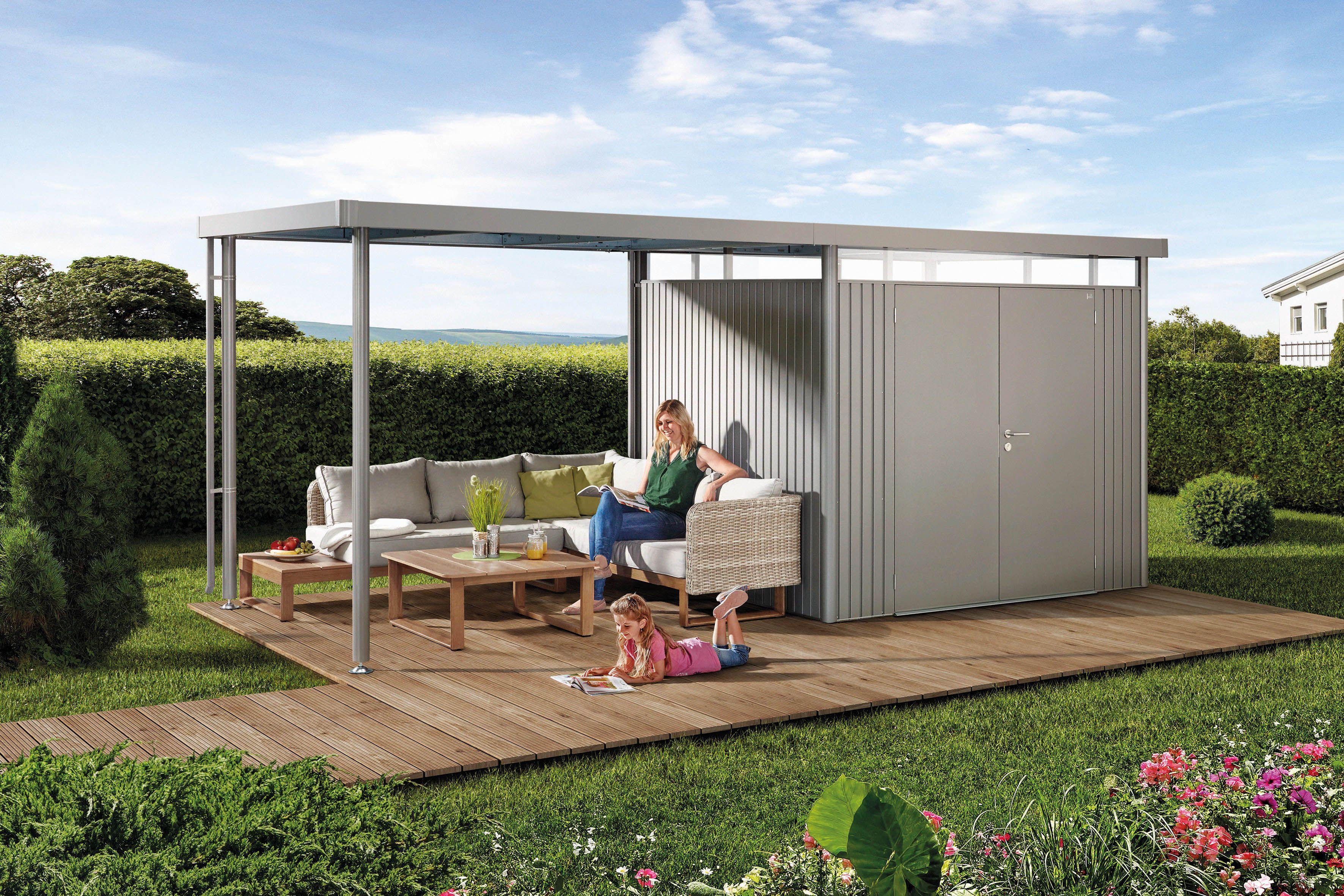 Gartenhutte Gerateschuppen Aus Metall Biohort Schuppen Ideen Haus