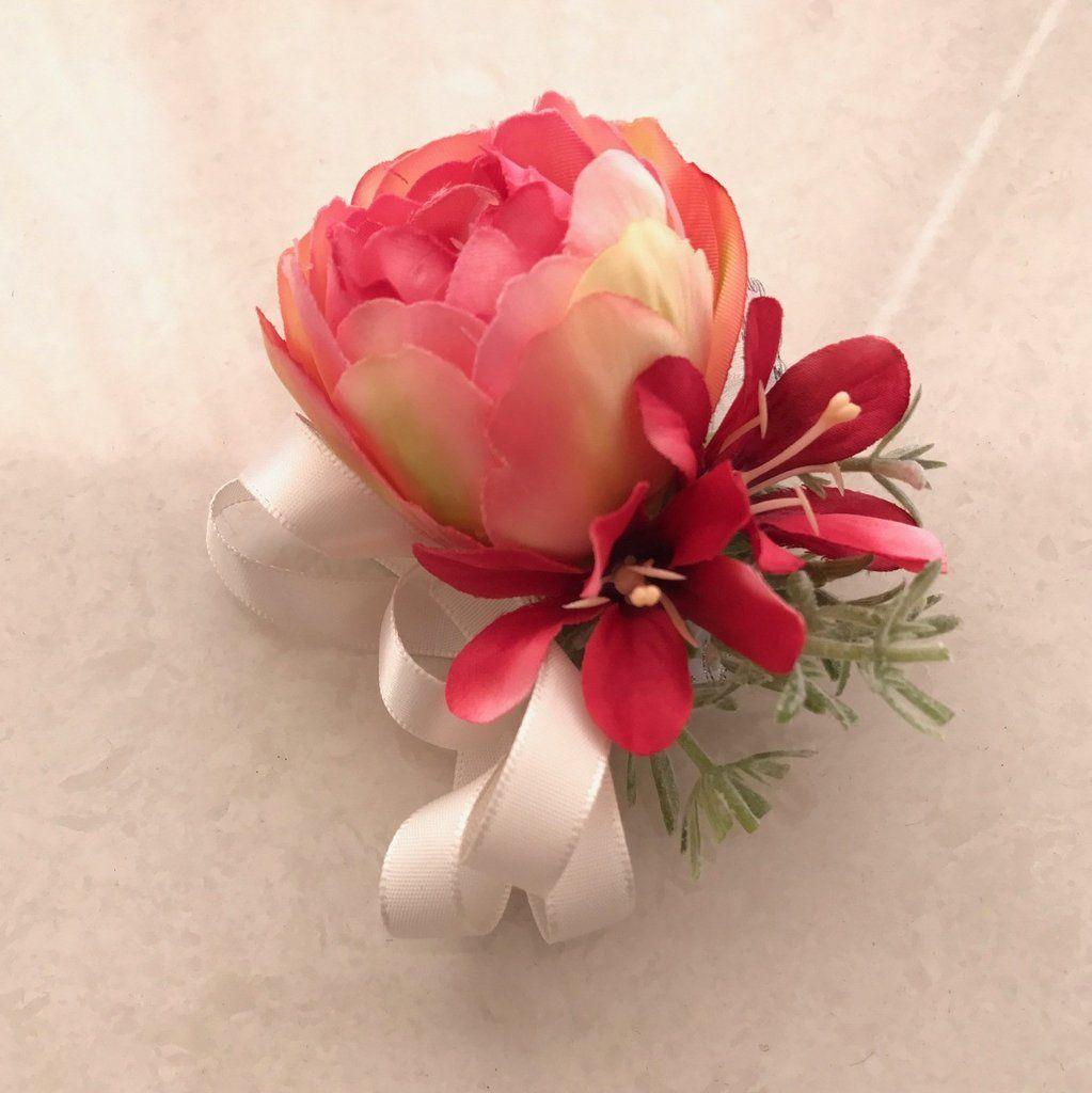 Alex Peony Wedding Corsage Boutonniere Diy Florals Weddings All