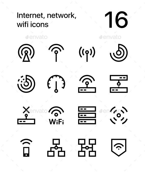 Network, Wifi Icons for Web and Mobile Design
