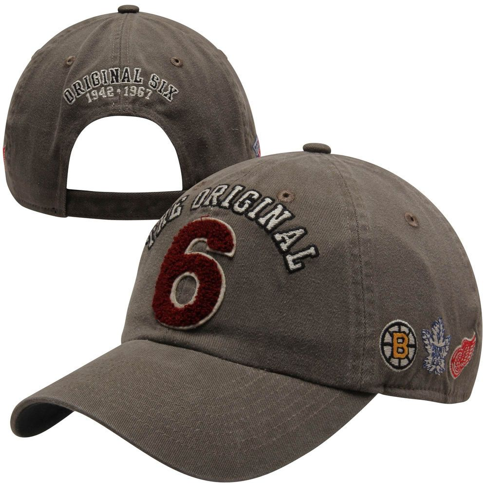 a0886b48d7dc0 Old Time Hockey Original Six The Barn Adjustable Hat - Charcoal