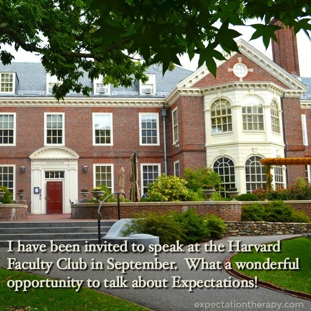 I will be speaking at Harvard University in Cambridge MA this September! I am excited to share my knowledge of Expectations with some of the finest minds in the nation. Thank you, Harvard, for your open-mindedness and willing to see a different perspective from a different kind of thinker.