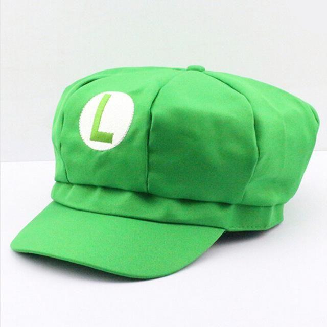 061c55fa66ea24 New Super Mario Cotton Caps Red Hat Mario and Luigi cap 5 colors Anime  Cosplay Costume Halloween buckle hats Adult Hats Caps