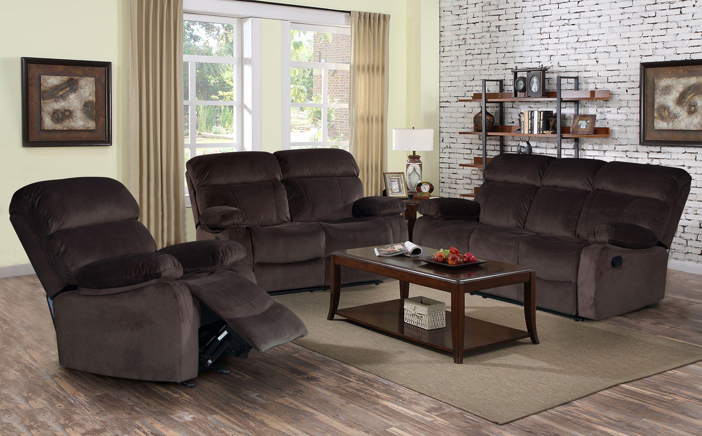 New Reclining Sofa Set Pics Izabella Dark Chocolate