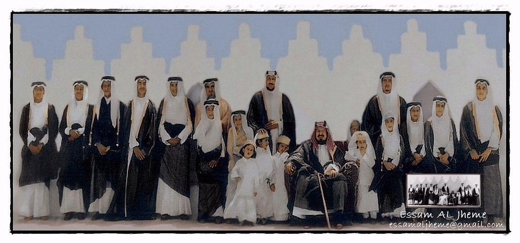 الملك عبدالعزيز آل سعود مع ابنائه Saudi Arabia Culture Arabian Art National Day Saudi