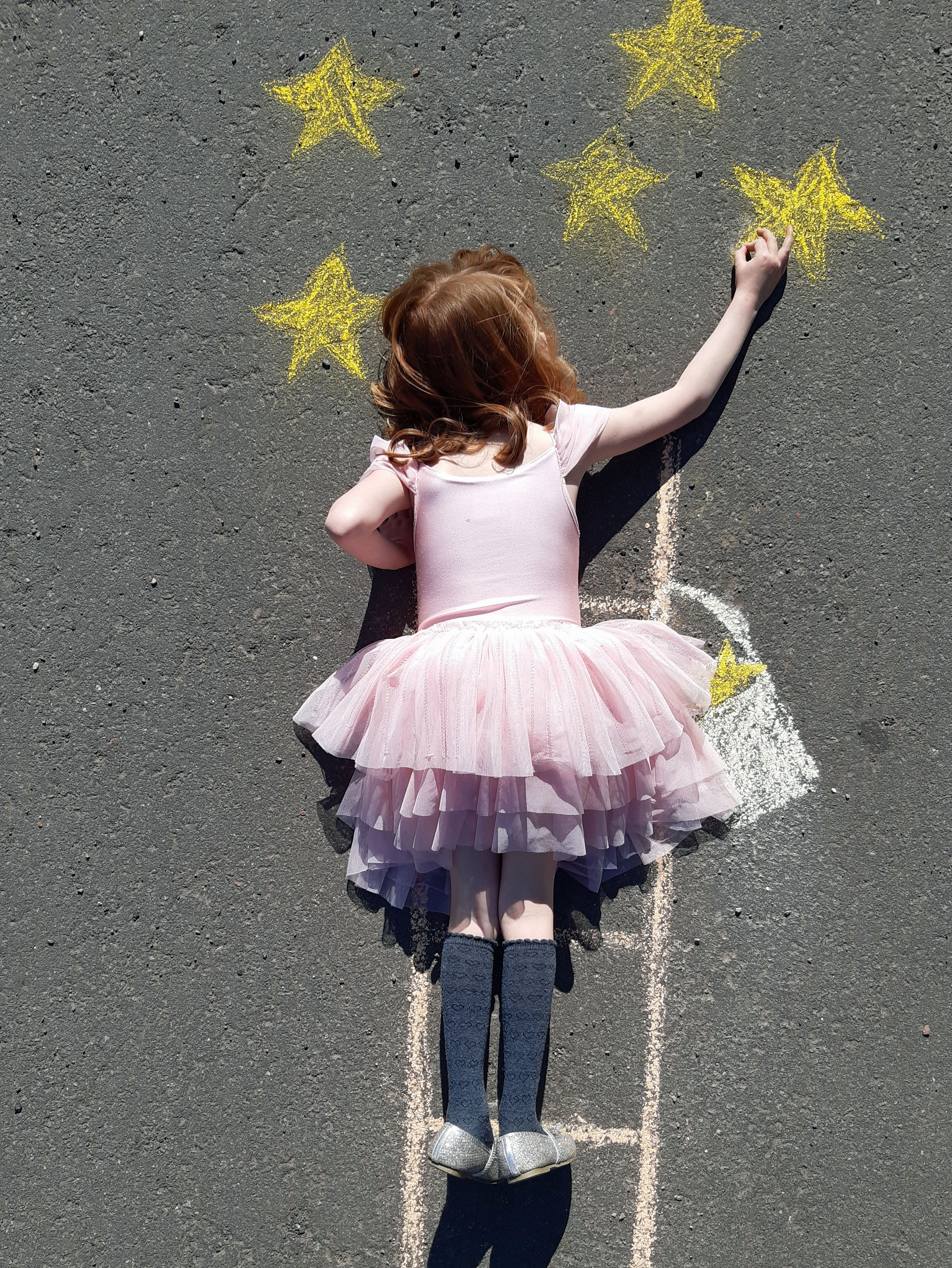 Chalk Drawing In
