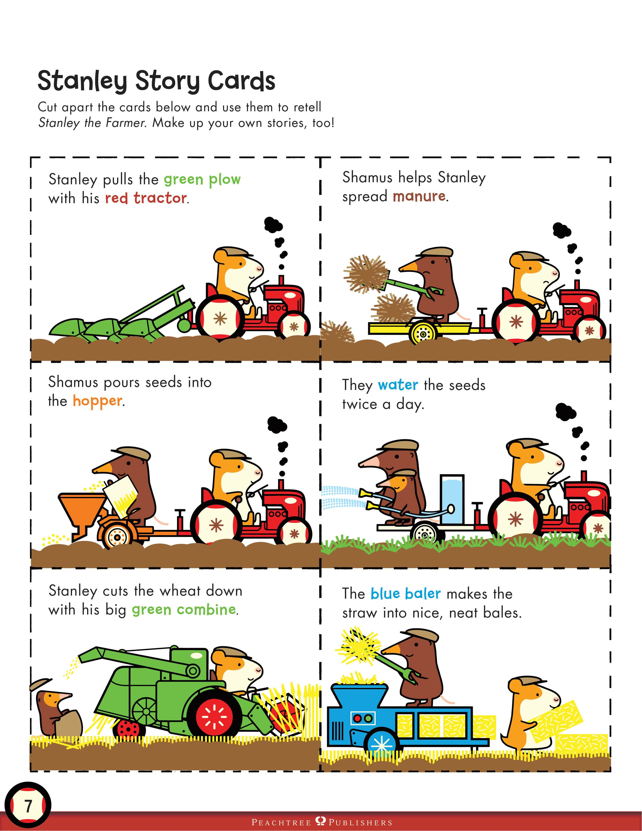 Stanley The Farmer Story Cards Print Out These Cards To