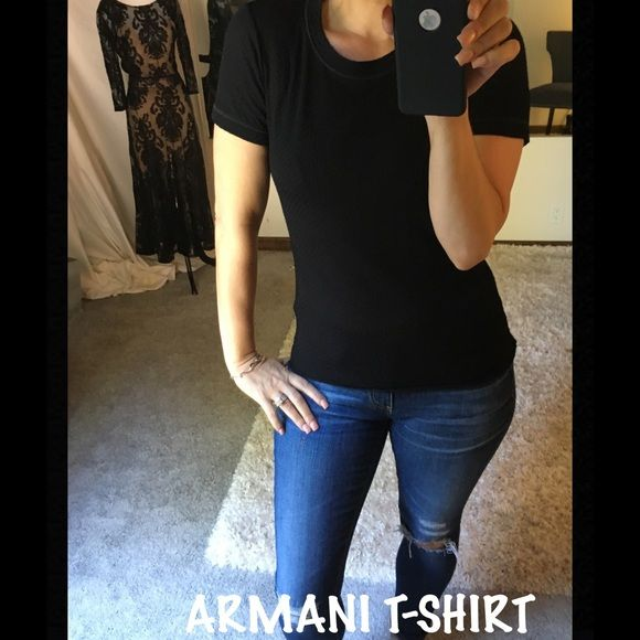 ARMANI Collezioni T-Shirt ARMANI Collezioni T-Shirt. Definitely a wardrobe staple, perfectly fitted. size 4 excellent condition ARMANI Tops Tees - Short Sleeve
