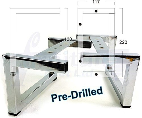 4 X Chrome Furniture Feet Legs 130mm Hig Https