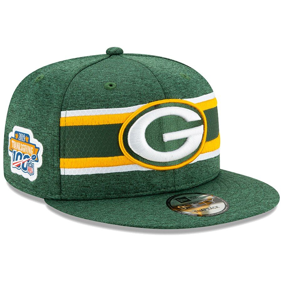 Men S Green Bay Packers New Era Green 2019 Thanksgiving Sideline 9fifty Snapback Adjustable Hat Your Price 35 99 Green Bay Packers Nfl Green Bay Hats