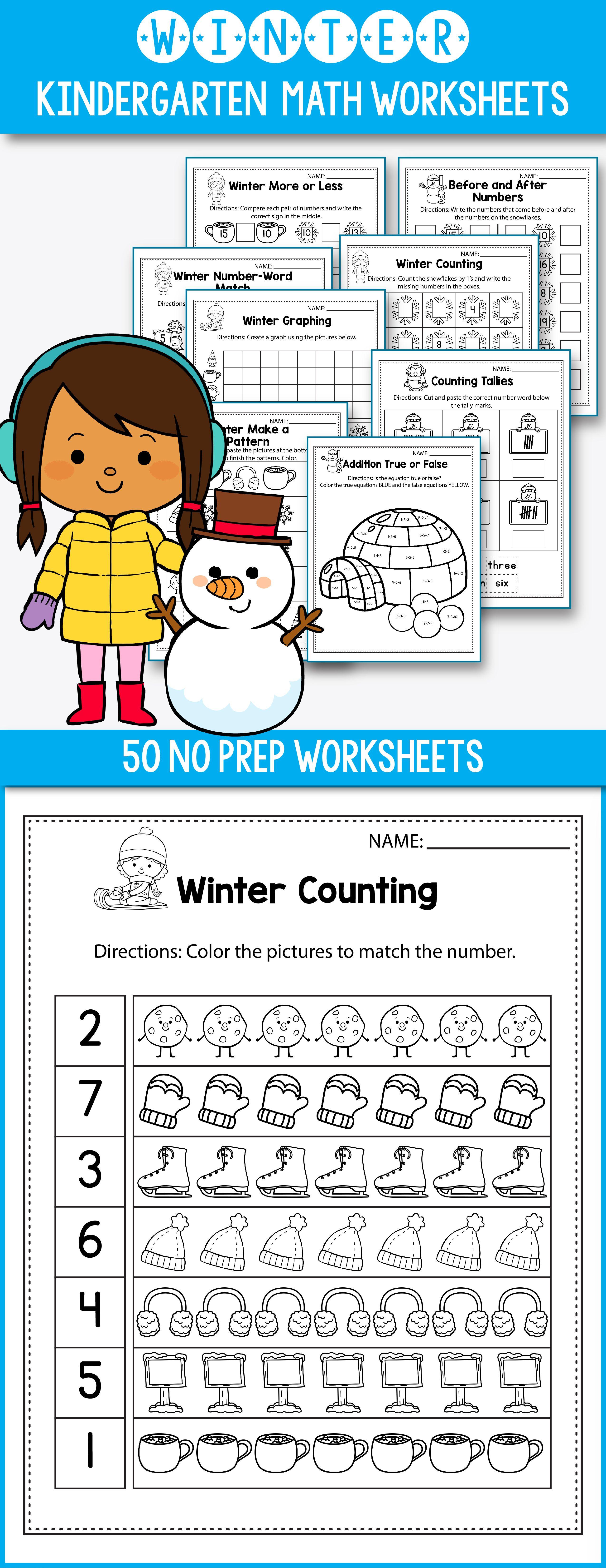 Winter Activities For Kindergarten Math No Prep Winter Worksheets Perfect For Preschool Kin Kindergarten Activities Kindergarten Resources Math Activities [ 6588 x 2550 Pixel ]