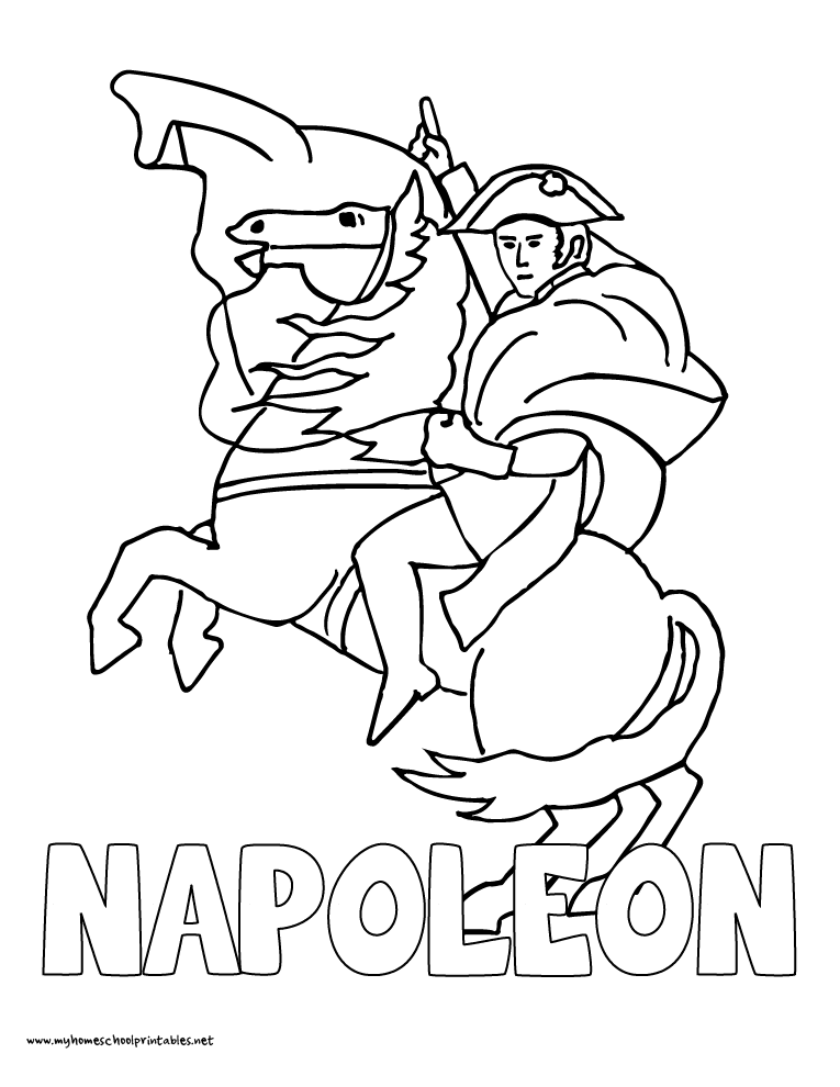 History Coloring Pages – Volume 4 | Napoleon