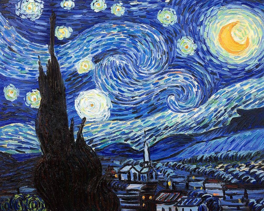 Van Gogh - Starry Night - Reproduction Oil Painting - Vincent Van ...
