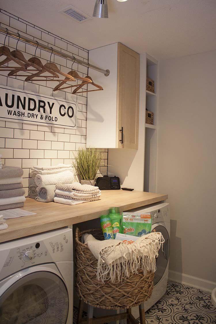 Our New Modern Farmhouse Laundry Room Makeover Sneak Peek Full Of