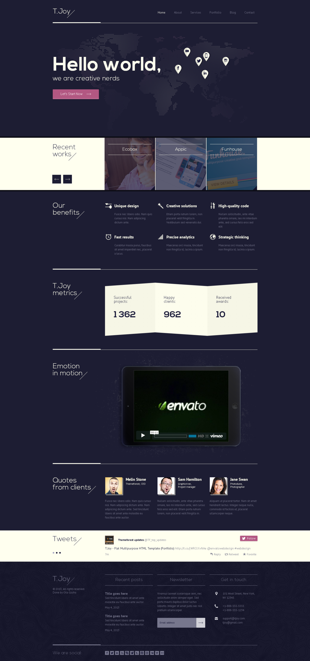 T.Joy Flat Multipurpose HTML Template by ~Experthemes on deviantART #webdesign