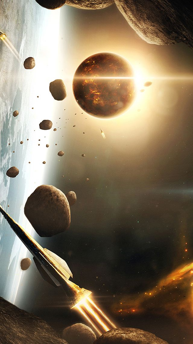 Spaceships Asteroids Iphone 5s Wallpaper Welcome To Download More Http Www Ilikewallpaper Net Iphone 5 Wal Space Art Space Backgrounds Planets Wallpaper