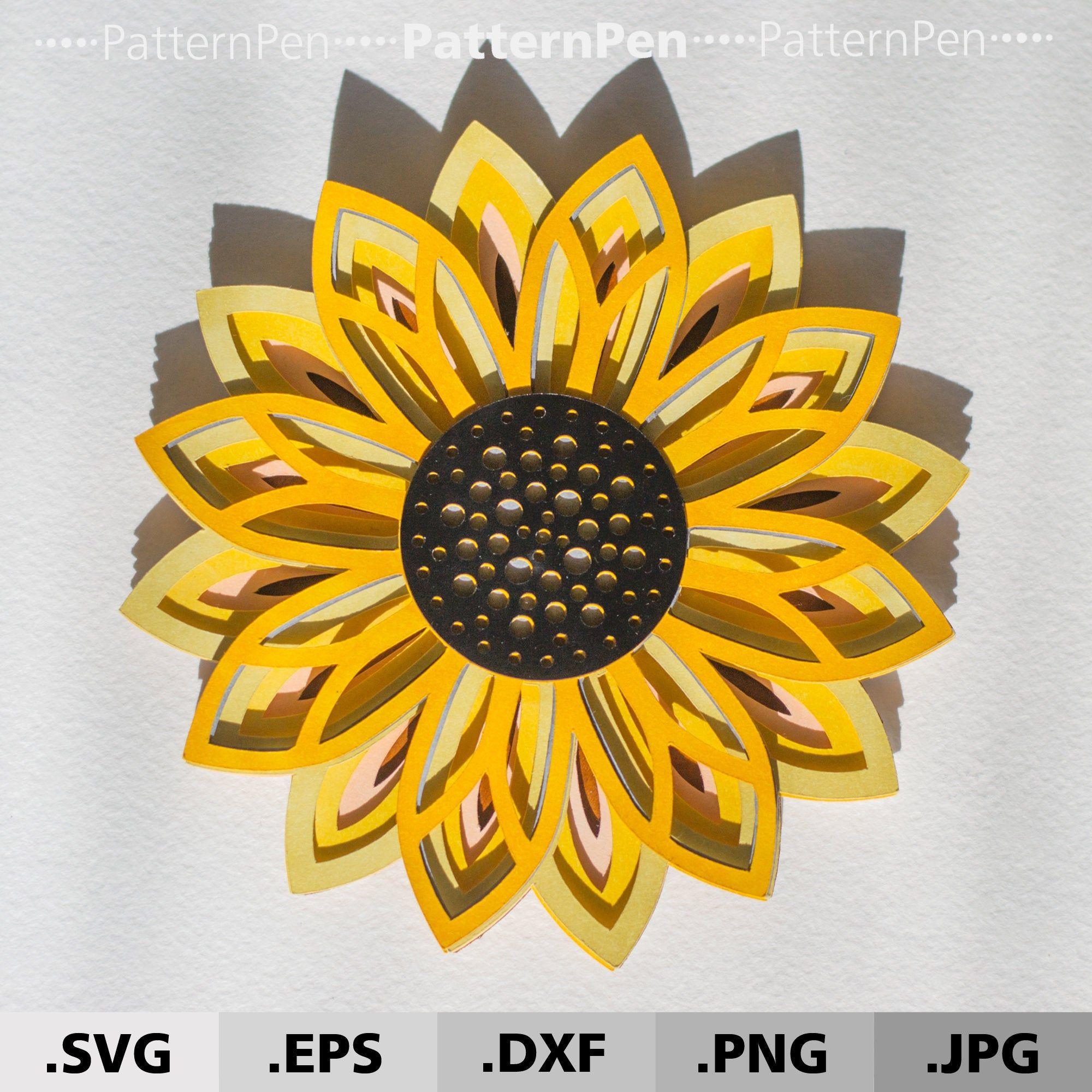 47+ Layered Sunflower Mandala Svg – SVG Bundles