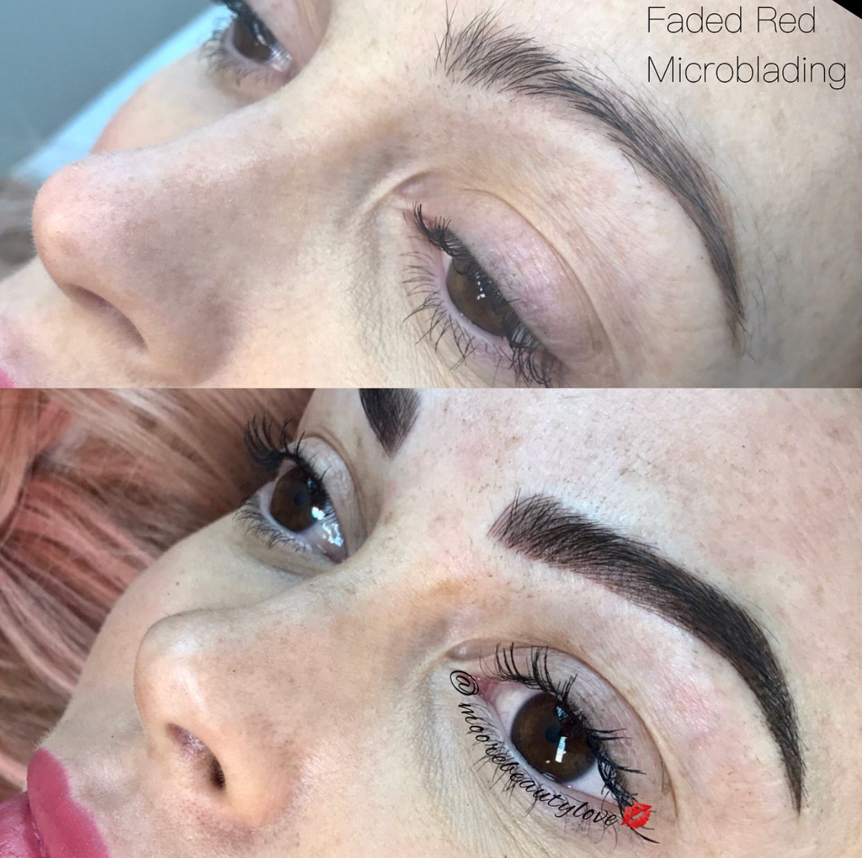 Took those faded red brows and turned them Fab! 3D