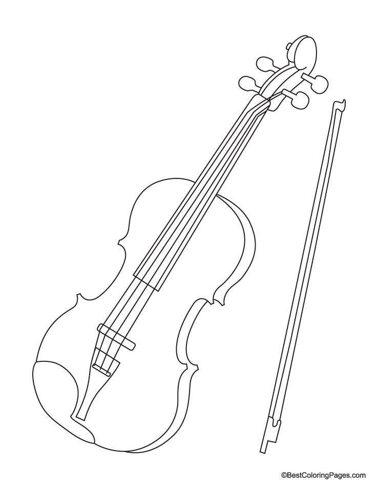 Violin Coloring Page More Pins Like This At Fosterginger
