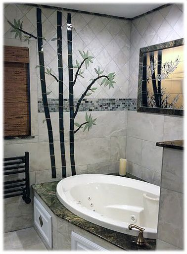 Decorative Ceramic Bamboo Tile Hand Made Tiles In