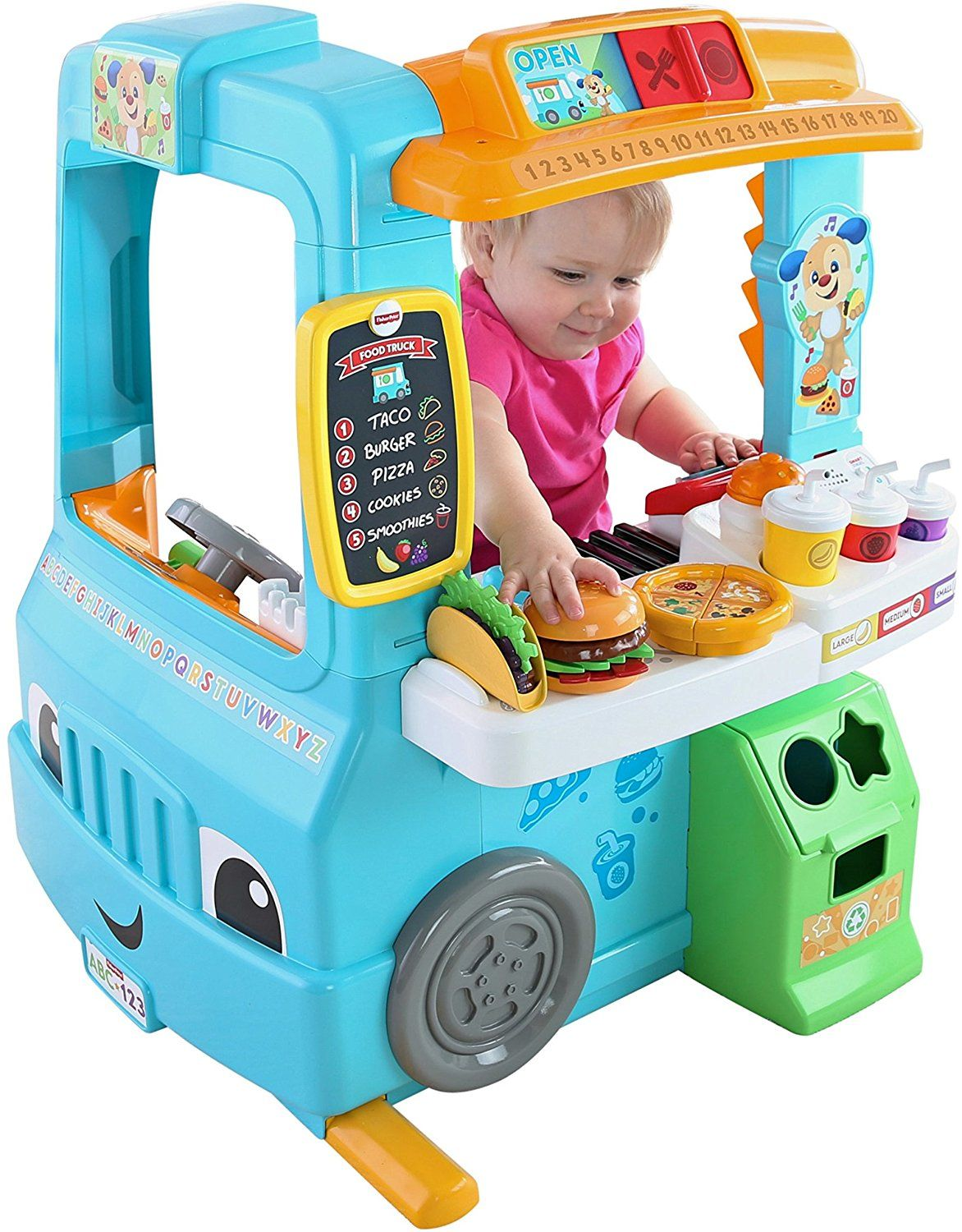 Fisher-Price Laugh & Learn Servin\' Up Fun Food Truck | Amazon Kids ...