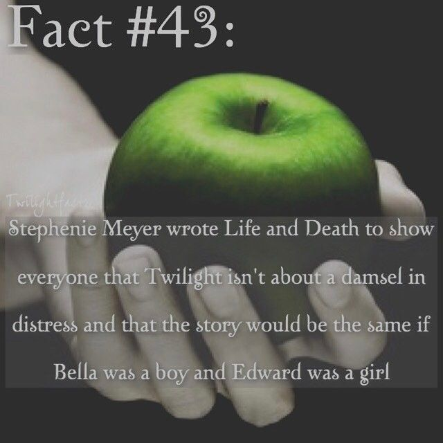 "5 Synes godt om, 1 kommentarer – Twilight Facts (@twilightfactss) på Instagram: ""~ Stephenie Meyer should've did something else for the 10th anniversary tbh. I love Life and Death,…"""
