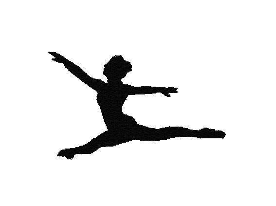Dancer Machine Embroidery Design, 2 sizes, Silhouette