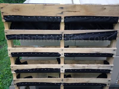 wood palette garden planter  -  layered pallet garden might be good for strawberries