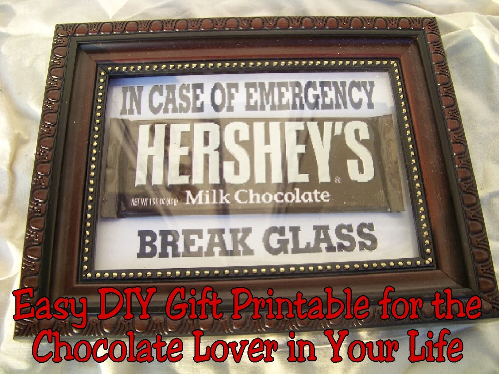 photograph regarding In Case of Emergency Break Glass Printable named Chocolate Unexpected emergency Package Printable Present Notion Items ~ Do-it-yourself