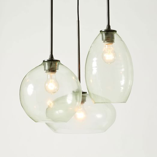Glass triplet chandelier west elm 349 ceiling lighting glass triplet chandelier west elm 349 aloadofball Images