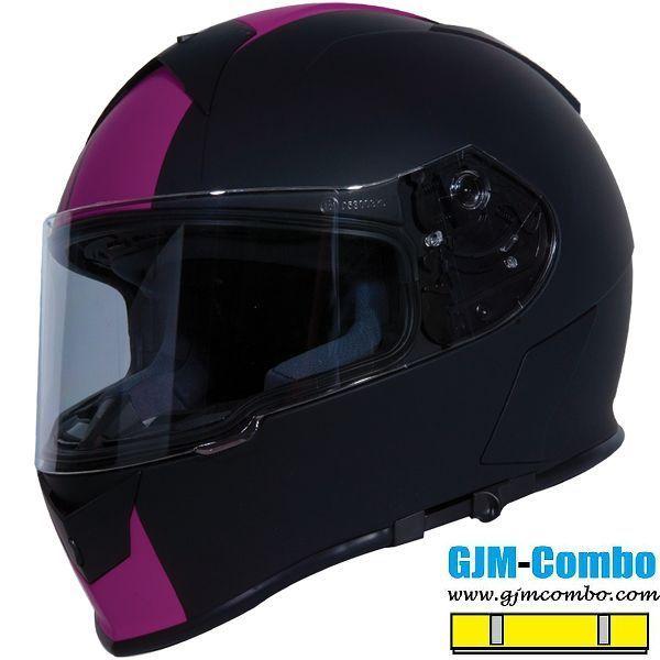 TORC T58B BLUETOOTH GLOSSY BLACK PINK OPEN FACE MOTORCYCLE HELMET DOT XS XL
