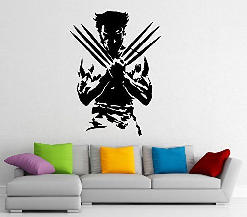 Wolverine Superhero Wall Decal Wall Vinyl Sticker Marvel Comics Interior  Home Art Wall Murals Bedroom Home