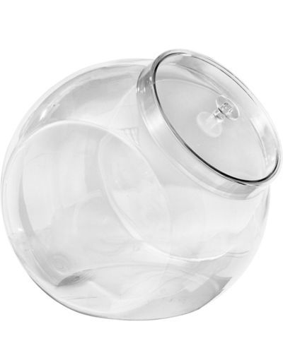 New Clear Glass Slanted Old Country Store Candy Jar//Canister W// Metal Lid 1 Gal