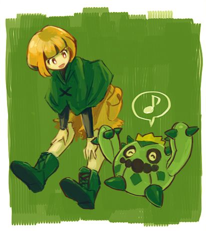 Gardenia And Cacnea With Images Pokemon