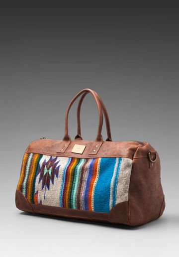 WILL LEATHER GOODS Oaxacan Duffle Bag in Brown - New  a2fcb627aedd0