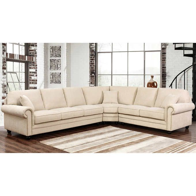 Costco Living Room Sets: Fabric Sectional, Sectional