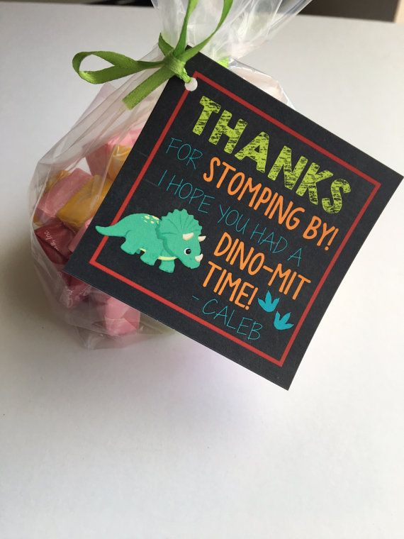 Dinosaur Printable Party Favor Tags Favors Thank You Boy Summer