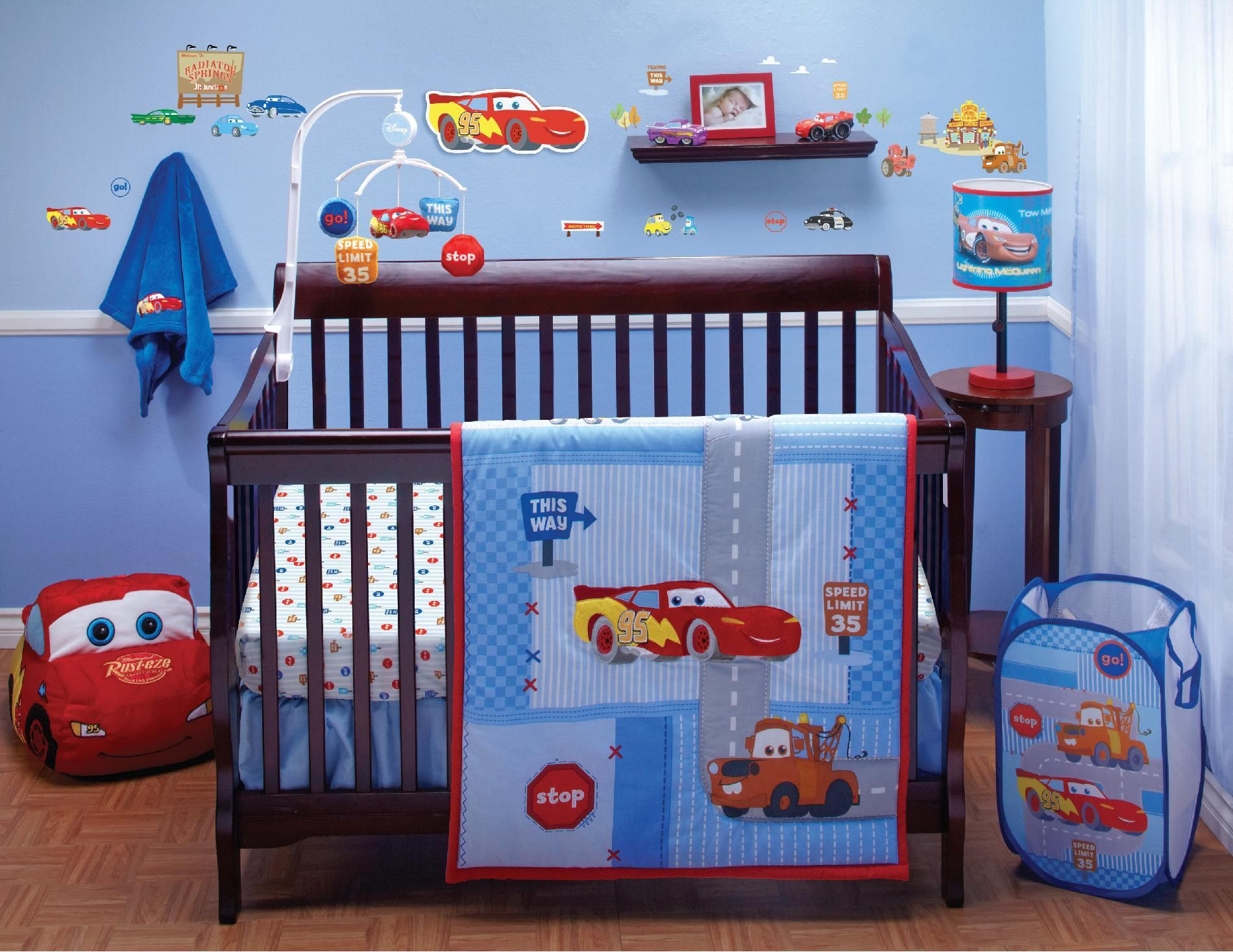 Crib Bedding Set Cars Little Racer 4 Piece Kmart