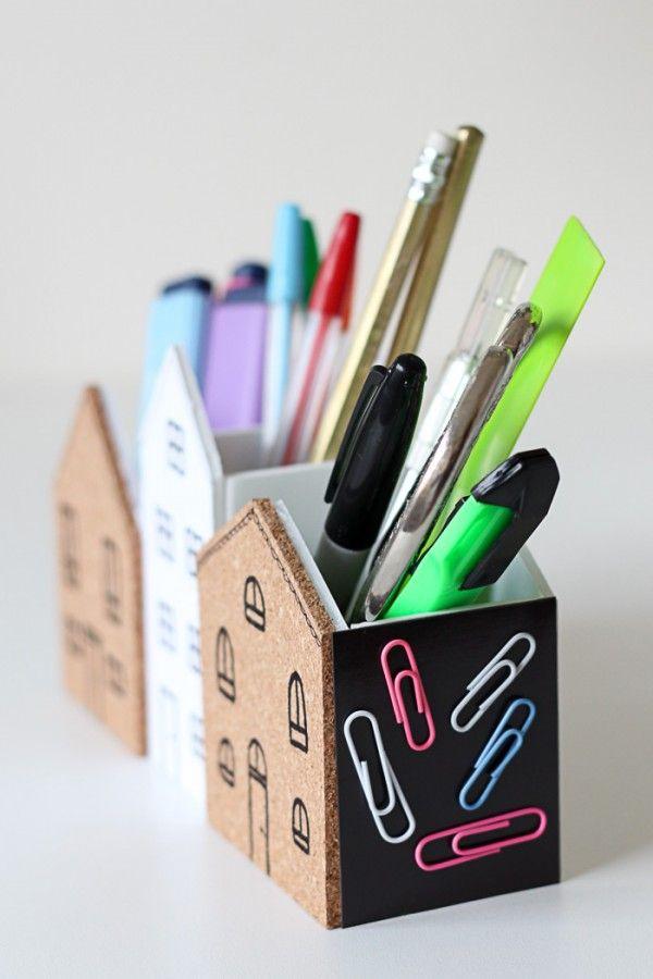 Diy Desk Organiser Homeology Pure Sweet Joy Desk Organization Diy Diy Desk Cute Desk Organization