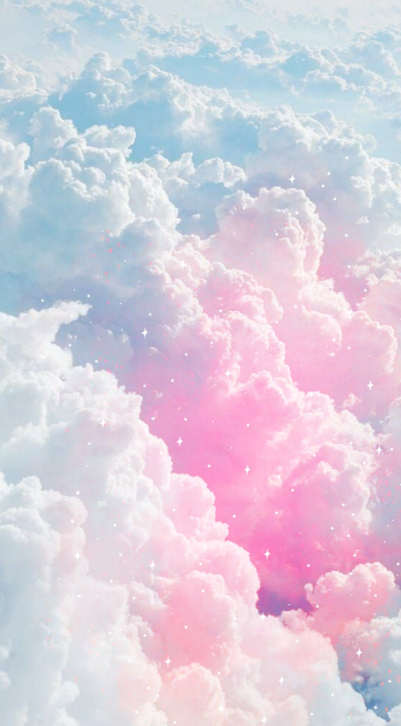 Aesthetic pink clouds wallpaper laptop