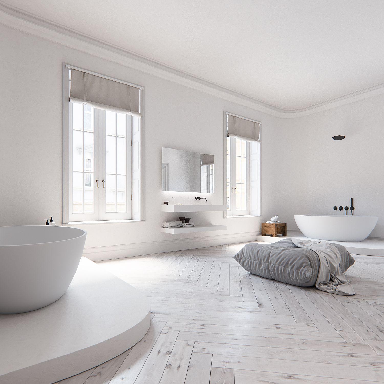 Droombadkamer met onze nieuwe Piet Boon® by COCOON zwarte design ...