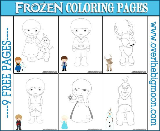 frozen coloring pages for kindergarten - photo#9
